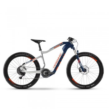 "Электровелосипед HAIBIKE XDURO AllTrail 5.0 Carbon FLYON i630Wh 11 s. NX 27.5"", рама L, сине-бело-оранжевый, 2020"