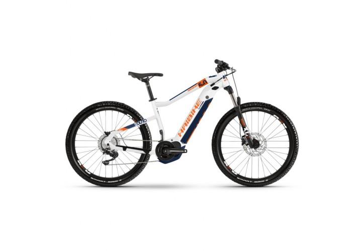 """Электровелосипед Haibike SDURO HardSeven 5.0 i500Wh 10 s. Deore 27.5"""", рама L, бело-оранжево-синий, 2020"""