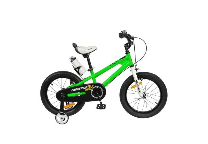 """Велосипед RoyalBaby FREESTYLE 16"""", OFFICIAL UA, зеленый"""