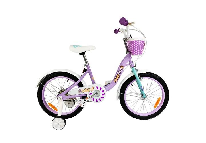 """Велосипед детский RoyalBaby Chipmunk MM Girls 16"""", OFFICIAL UA, фиолетовый"""