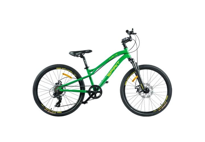 """Велосипед Spirit Flash 4.2 24"""", рама Uni, зелёный/матовый, 2021"""