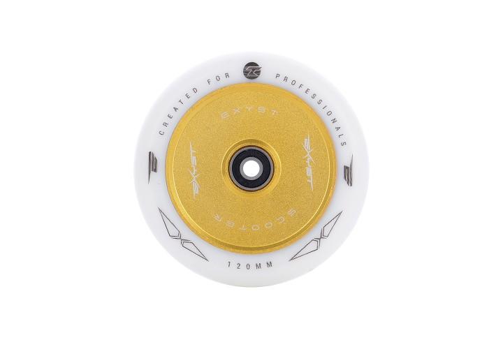Колесо для самоката Tempish PU 88A 120x24 AL CORE TF white/gold