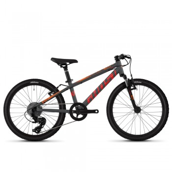 """Велосипед Ghost Kato Essential 20"""", рама one-size, серо-оранжевый, 2021"""