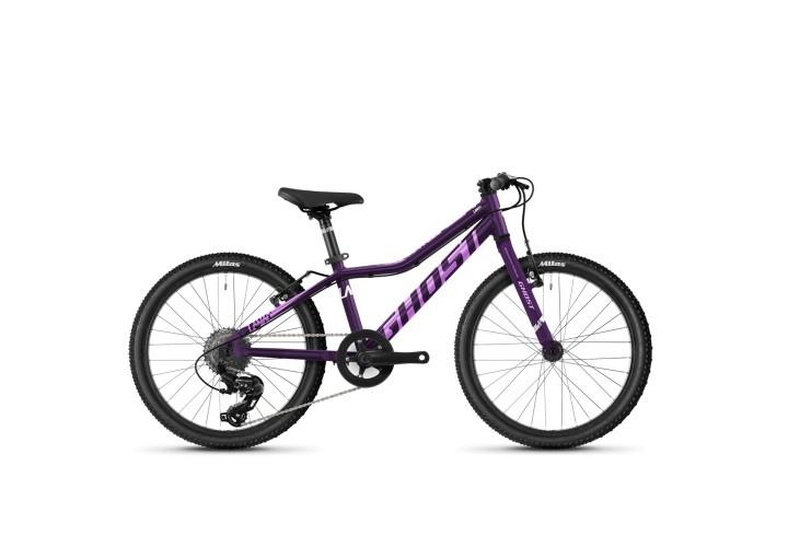 "Велосипед Ghost Lanao Base 24"", рама one-size, фиолетовый, 2021"