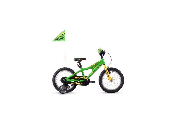 "Велосипед Ghost POWERKID 16"" , зелено-желто-черный, 2021"