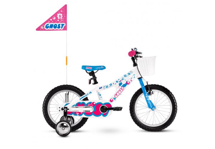 """Велосипед Ghost POWERKID 16"""" ,бело-сине-розовый, 2021"""